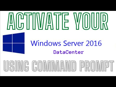How to Activate Microsoft Windows Server 2016 Datacenter using Command Prompt with Public KMS Keys