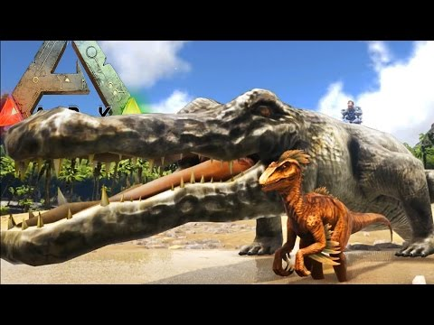 Ark Survival Evolved - PREHISTORIC CROC CAN PICK UP A TREX - (Ark Modded Gameplay)