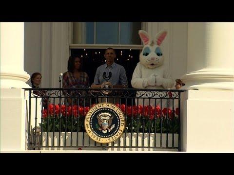 Pâques: chasse aux oeufs avec Obama à la Maison Blanche