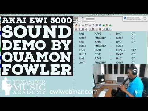 AKAI EWI 5000 Sound Demo by Quamon Fowler