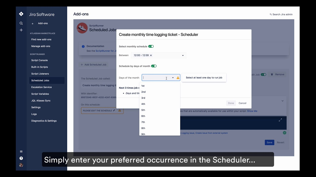 How-to: Create your own Scheduled Jobs in ScriptRunner for Jira Cloud