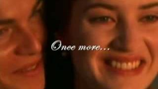 Repeat youtube video Celine Dion - My Heart Will Go On (TITANIC) Lyrics on screen!!