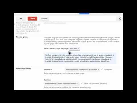 Crear un grupo en Google Groups