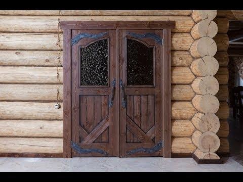 дверь входная состаренное дерево