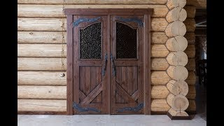 Двери из дерева под старину - www.sostarennaya-mebel.ru - Старина Мебель(Сайт компании: http://sostarennaya-mebel.ru Интернет магазин http://sostarennaya-mebel.com/magazin Работы компании