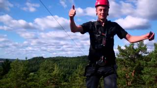 A Giant Zip Line at Dalsland Activities, Sweden