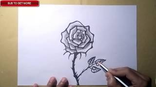 Easy drawing of ROSE LEAF for kids