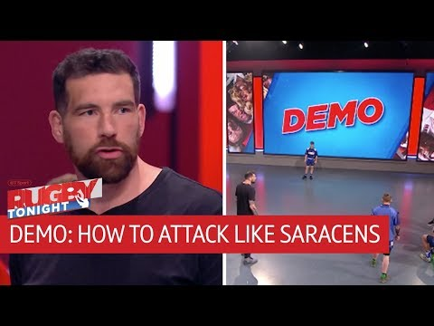 How to attack like Saracens | Rugby Tonight Demo with Jim Hamilton