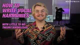 How to Write Vocal Harmonies with Little to No Music Theory Knowledge | Make Pop Music