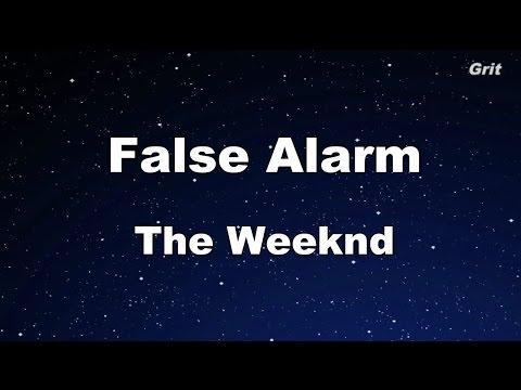 False Alarm - The Weeknd Karaoke 【With Guide Melody】 Instrumental