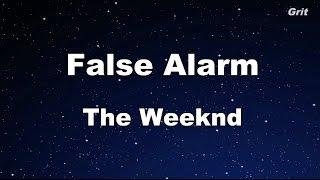 False Alarm - The Weeknd Karaoke 【With Guide Melody】 Instrumental
