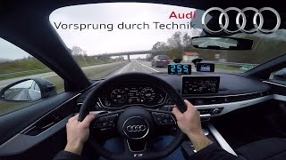 2017 audi a4 0 265 km h pov acceleration top speed test