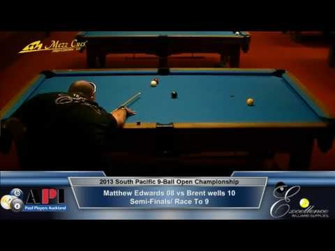 Semi Final: 2013 South Pacific Open 9-Ball Championship / Matthew Edwards vs Brent Wells