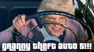 "Mammo Drives: GTA 5  Part 1 - ""GRANNY THEFT AUTO 5!!!""  PC Gameplay"