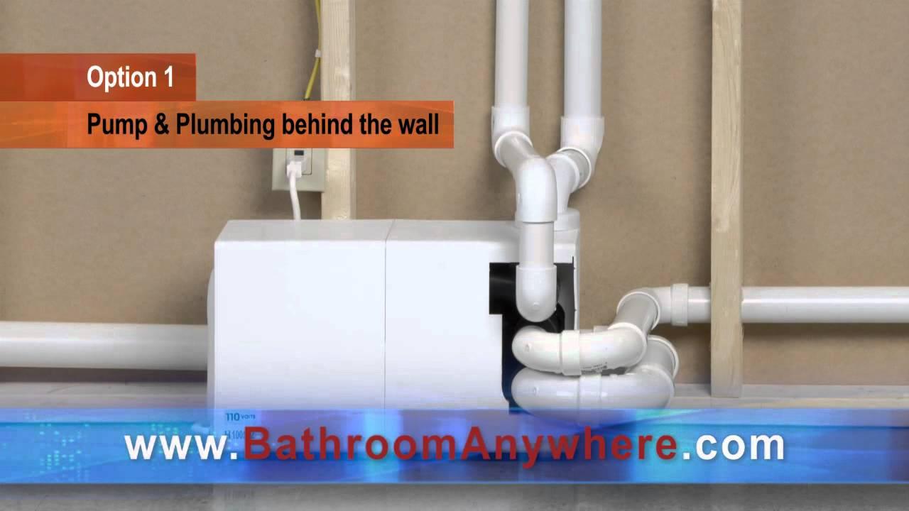 Bathroom Anywhere Installation Options - YouTube