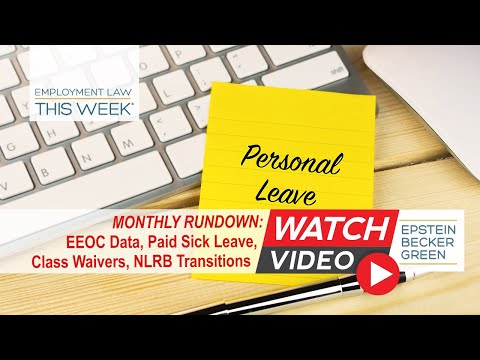 Employment Law This Week® - Episode 131 - Monthly Rundown: November 5, 2018