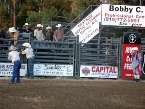 Rodeo USA: bull attacks cowboy on horse