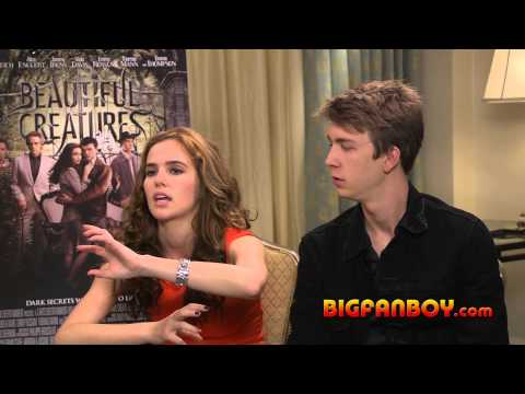BEAUTIFUL CREATURES interview with Zoey Deutch and Thomas Mann