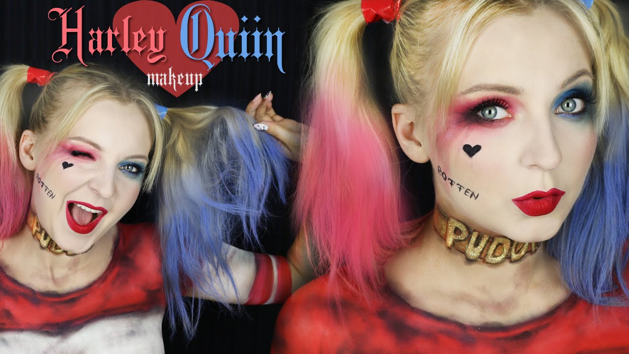 Suicide Squad Harley Quinn Makeup Charakteryzacja Youtube