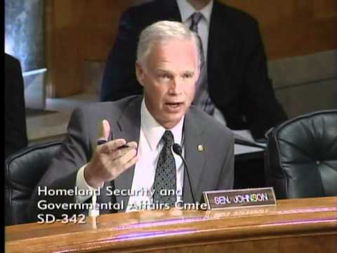 Senator Johnson at Homeland Security and Governmental Affair Committee Hearing