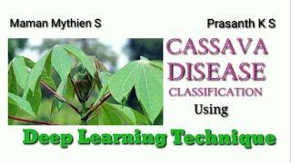 Cassava Disease Classification using Deep Learning Technique