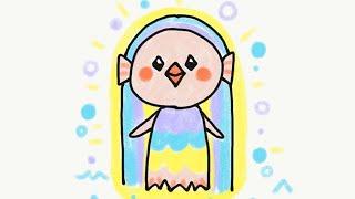 シンプルで描きやすいアマビエ様〜Amabie  - Simple version - legendary Japanese spirit〜簡単かわいいイラストレッスン55