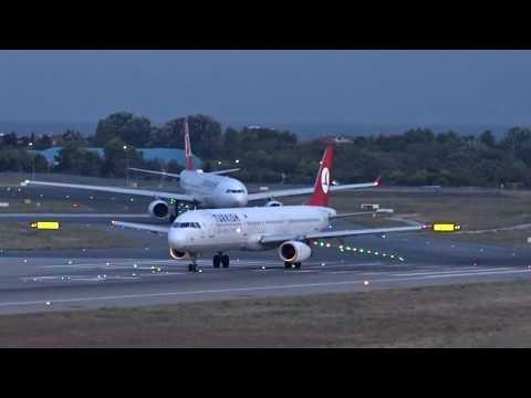 Istanbul Atatürk Airport (İstanbul Atatürk Havalimanı) - Nighttime Takeoff - (2017-07-23)