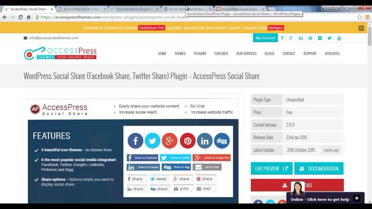 """Résultat de recherche d'images pour """"wordpress accesspress social share"""""""