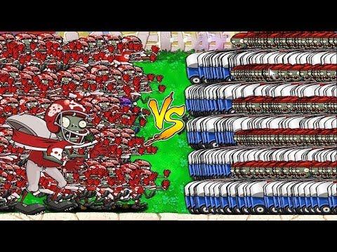 99999 Football Zombie vs 99999 Zomboni vs Gargantuar Plants vs Zombies