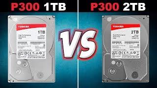 Test HDD Toshiba P300 1TB vs P300 2TB