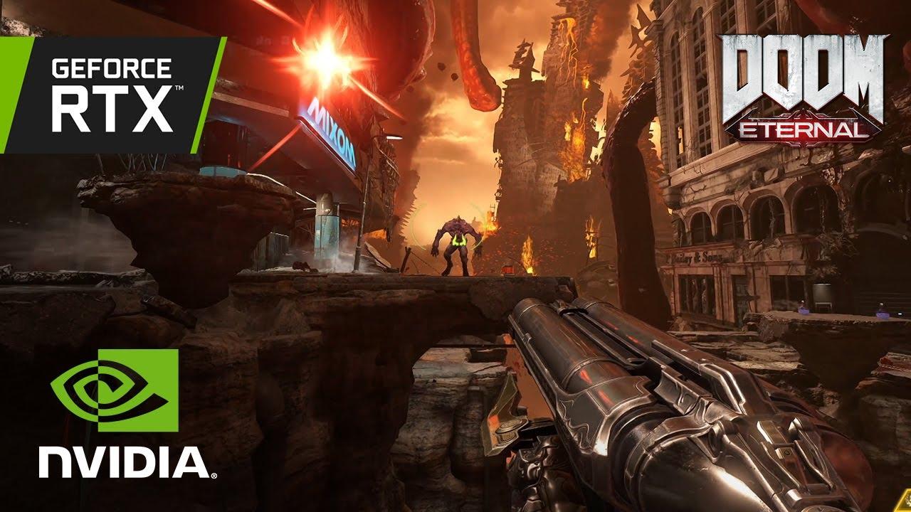 DOOM Eternal – SUPERFAST 4K gameplay w/RAY TRACING, NVIDIA DLSS on GeForce RTX 3080 Ti