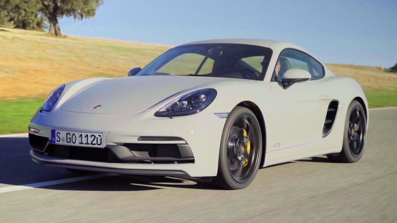 2018 Crayon Porsche 718 Cayman GTS - 365 hp Exhaust Sound and Track Drive - YouTube