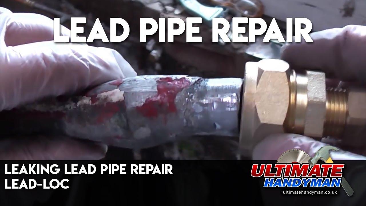 Leaking lead pipe repair