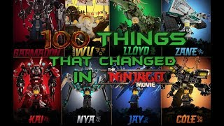 100 Things That Changed In The LEGO Ninjago Movie