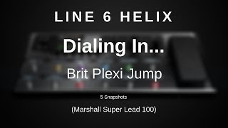 Line 6 Helix - Dialing In The Brit Plexi Jump (Marshall Super Lead 100 Jumped) Resimi