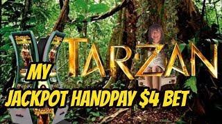 JACKPOT HANDPAY $4 BET ON TARZAN