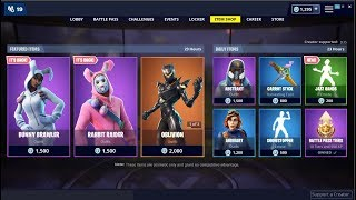 *NEW*Jazz Hands Emote & Bunny Brawler & Rabbit Raider Skin Back ! Fortnite Item Shop April 7, 2019
