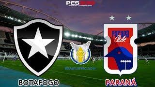PES 2019 - Botafogo x Paraná | Brasileirão 2018 | Gameplay. PS4