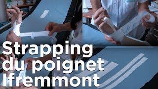 Strapping du poignet Ifremmont Chamonix Mont-Blanc Emmanuel Cauchy médecine montagne ski alpinisme