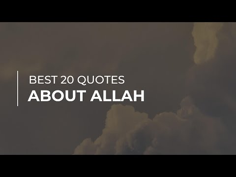 Best 20 Quotes about Allah Soul Quotes