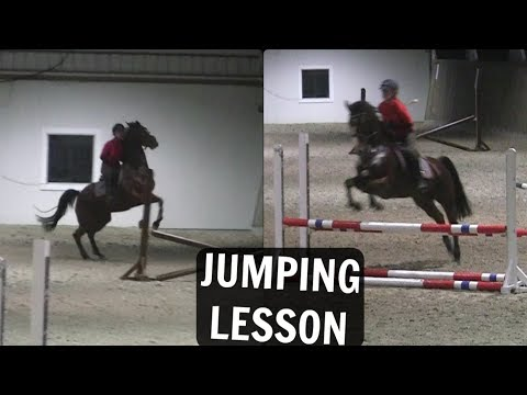 BAD RIDER + FEISTY HORSE = messy jumping lesson [RAWS]
