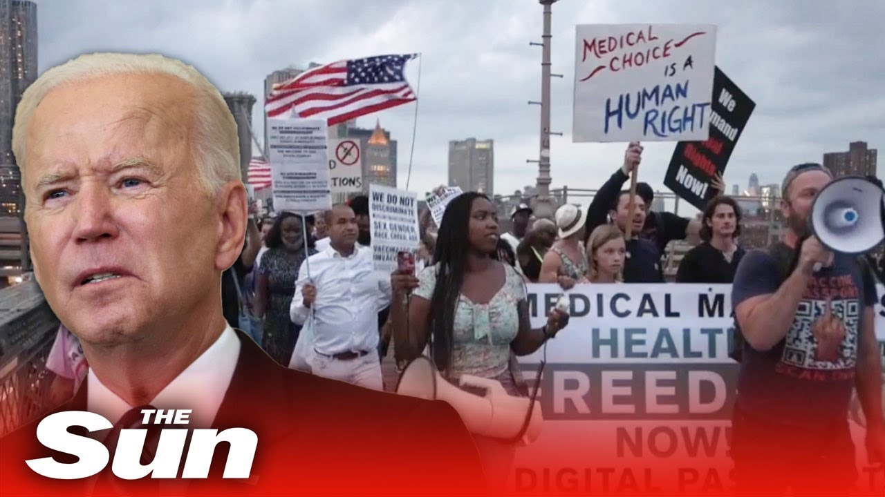 Download 'F**k Joe Biden' chants break out in NYC by protesters angered by vaccine mandate