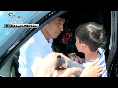 'Saya Boleh Ikut Tidak', Tanya Bocah Yang Ibunya Meninggal Karena Gempa Palu Kepada Jokowi