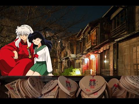 Boyfriend/Girlfriend Wishing Shrine & PRETTIEST Anime Street in Kyoto Japan