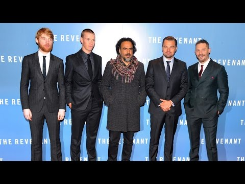 The Revenant UK Premiere Red Carpet - Leonardo DiCaprio, Tom Hardy, Domhnall Gleeson, Will Poulter