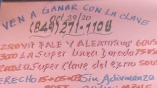 ARREEEE,NOS VAMOS CON LA SÚPER CLAVE DEL CABALLO...OCT 29/20