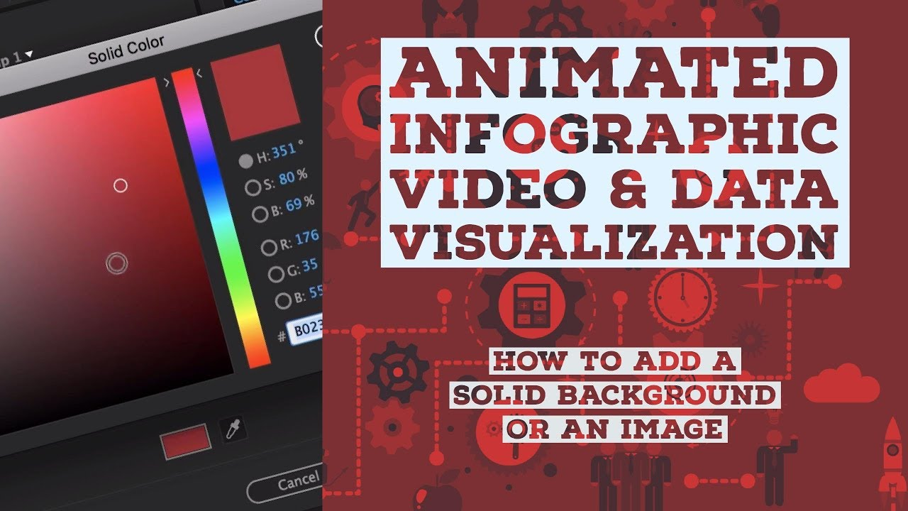 How to add a solid background or an image - Animated Infographic Tutorial [6/48]