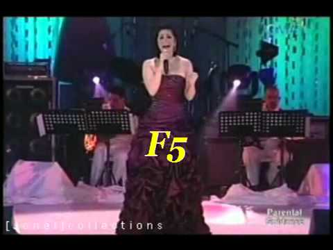 Regine's vocal range C3-C6(2006-2007)