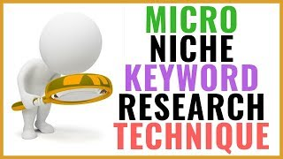Micro niche keyword research technique for your blogger website and Wordpress in Hindi 2018