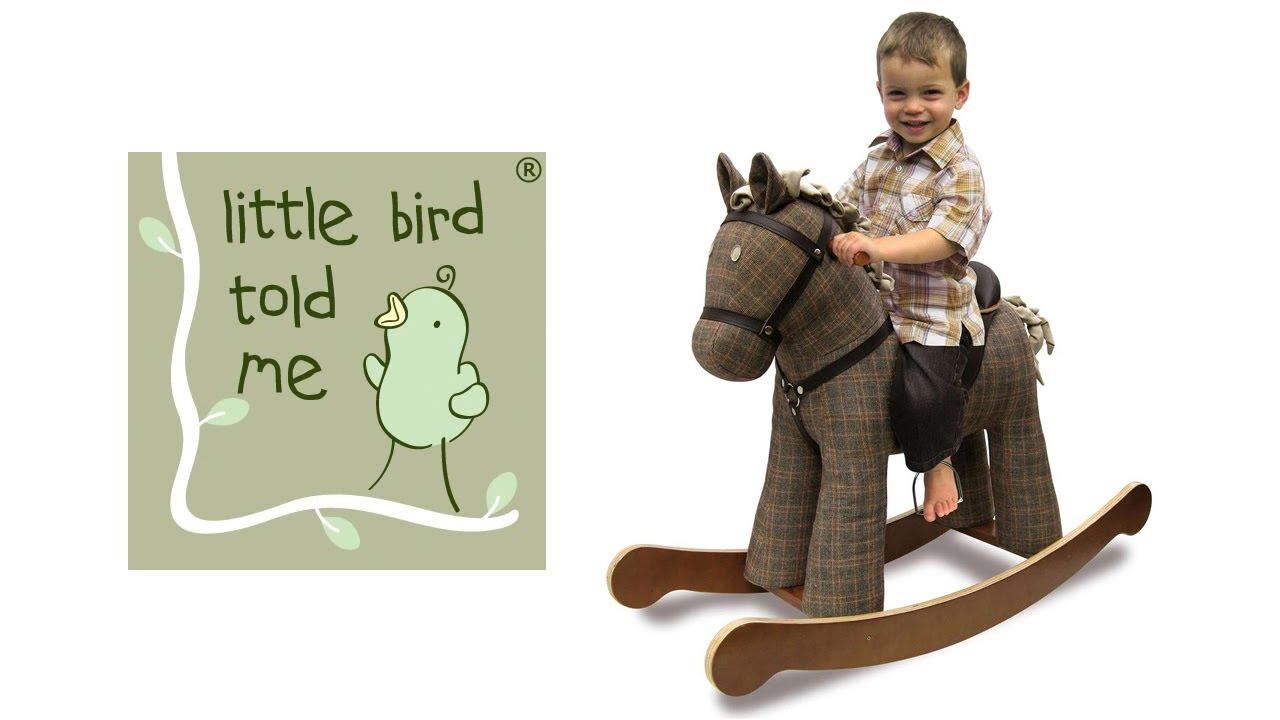 Little Bird Told Me Jasper rocking horse - YouTube
